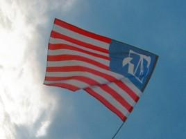 flaga dla drużyny paintball bydgoszcz obrońcy demokracji i ropy naftowej